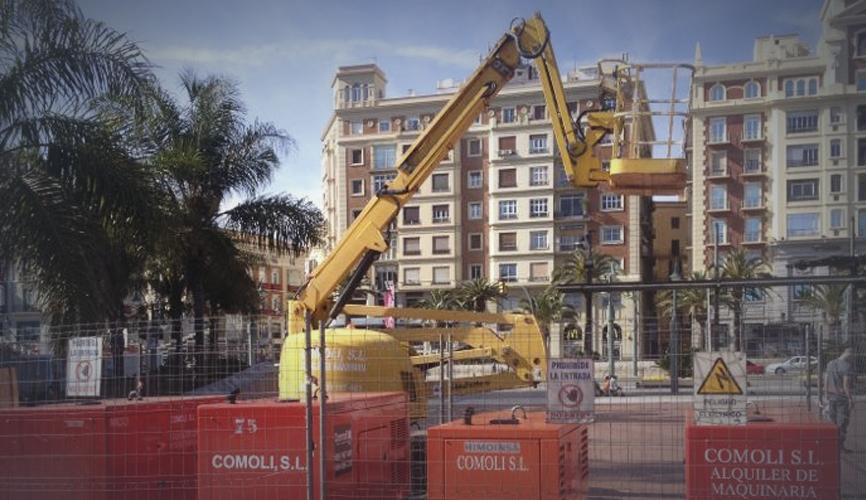 Alquiler de maquinaria en Málaga