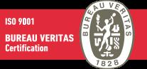 Logotipo certificación Bureau Veritas ISO 9001 Comoli