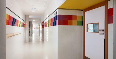 Detalle constructivo en Colegio Publico