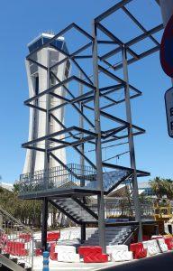 Construcción de estructura metálica en el Aeropuerto de Málaga