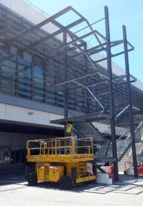 Construcción de plataforma de aceso de zona VIP en el Aeropuerto de Málaga