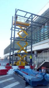 Construcción de plataforma de acceso metálica en el Aeropuerto de Málaga
