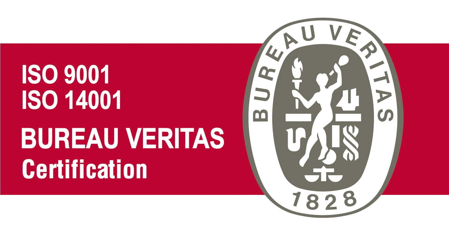 Logotipo ISO 9001 ISO 14001 Certificación